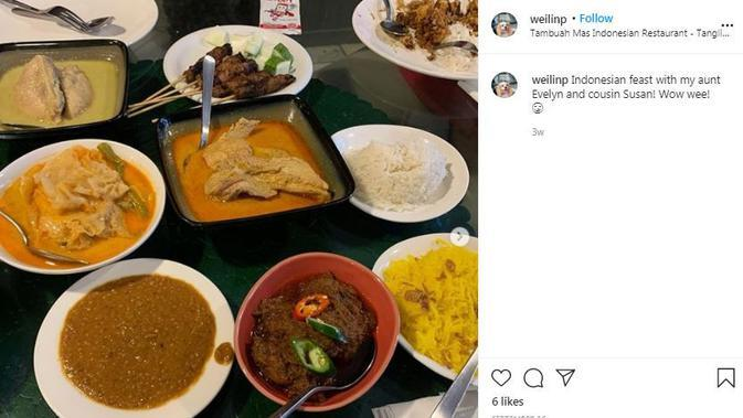 Tambuah Mas Indonesian Restaurant (Dok.Instagram/@wellinp/https://www.instagram.com/p/CFL882lp5pQ/Komarudin)