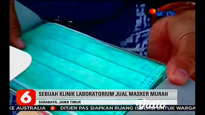 VIDEO: Harga Normal, Warga di Surabaya Antre Beli Masker