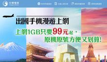 中華電推韓日港澳漫遊方案 最低每天平均不到25元!
