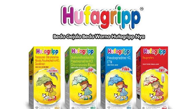 Hufagripp hadir dalam 4 varian dimana masing-masing variannya memiliki komposisi dan manfaat sesuai dengan gejala sakitnya.