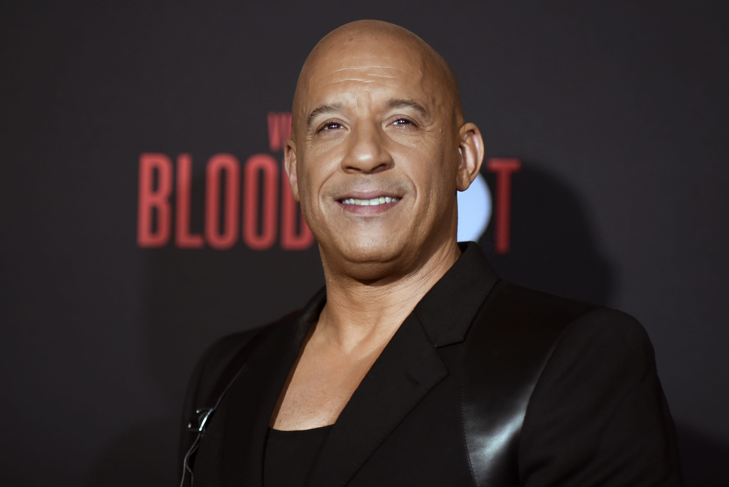 """Vin Diesel attends the LA premiere of """"Bloodshot,"""" at the Regency Westwood Theatre, Tuesday, March 10, 2020, in Los Angeles. (Photo by Richard Shotwell/Invision/AP)"""