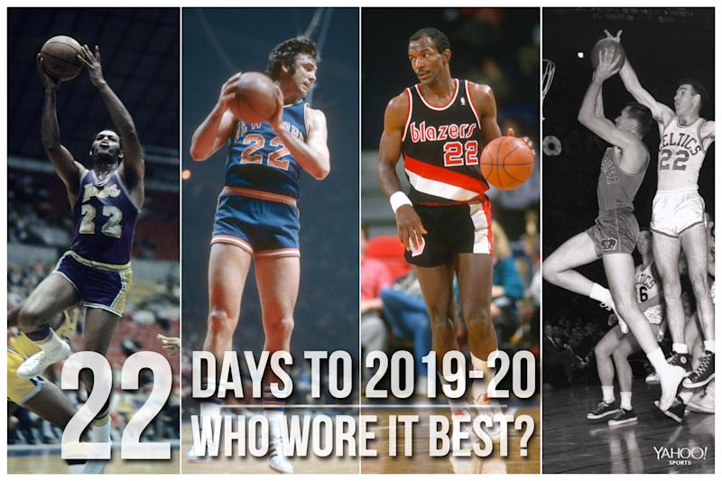 Which NBA player wore No. 22 best?