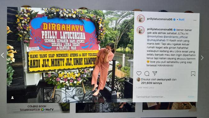 Unggahan Prilly Latuconsina. (Foto: Instagram @prillylatuconsina96)