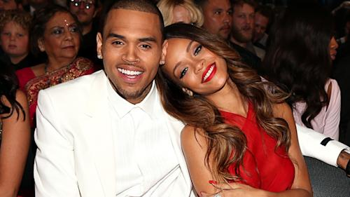 Chris Brown And Rihanna Get Cozy At Grammy Awards