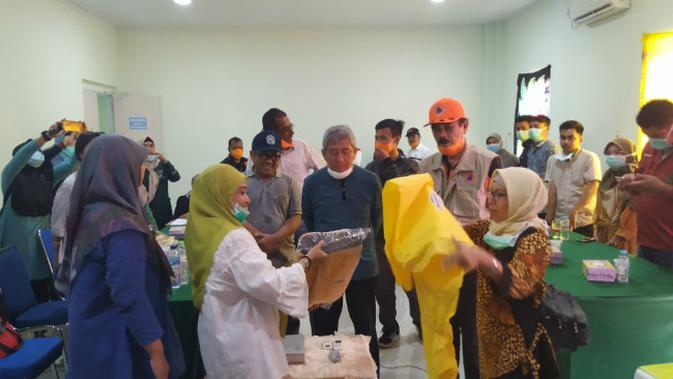 Pemerintah Provinsi (Pemprov) Sulawesi Barat (Sulbar) memanfaatkan gedung lama RSUD Regional Sulbar sebagai pusat karantina bagi Pasien Dalam Pengawasan (PDP) Covid-19. (Liputan6.com/Abdul Rajab)