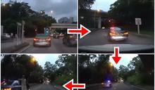 房車男疑冒警亮燈截停後車 警方澄清非隱形戰車