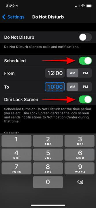 iPhone Set Do Not Disturb Schedule