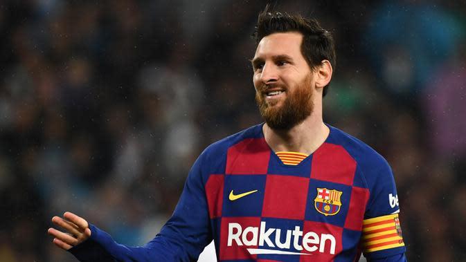 3. Lionel Messi - Messi menjelma menjadi predator ganas dalam mencetak gol di Barcelona ketika dikepalai Pep Guardiola. Pemain asal Argentina ini empat kali menyabet Ballon d'Or selama empat tahun di bawah asuhan Guardiola. (AFP/Gabriel Bouys)