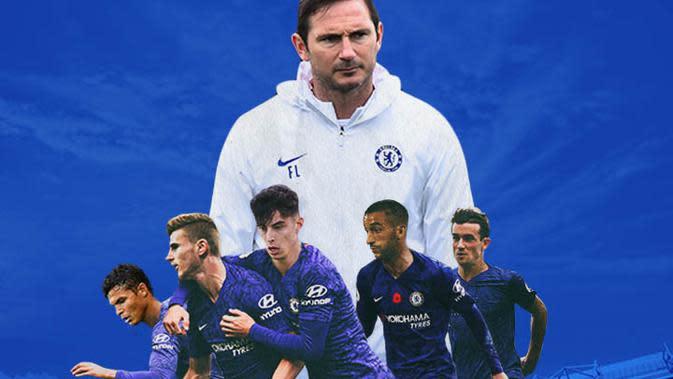 Chelsea - Frank Lampard, Hakim Ziyech, Thiago Silva, Kai Havertz, Timo Warner, Ben Chilwell (Bola.com/Adreanus Titus)
