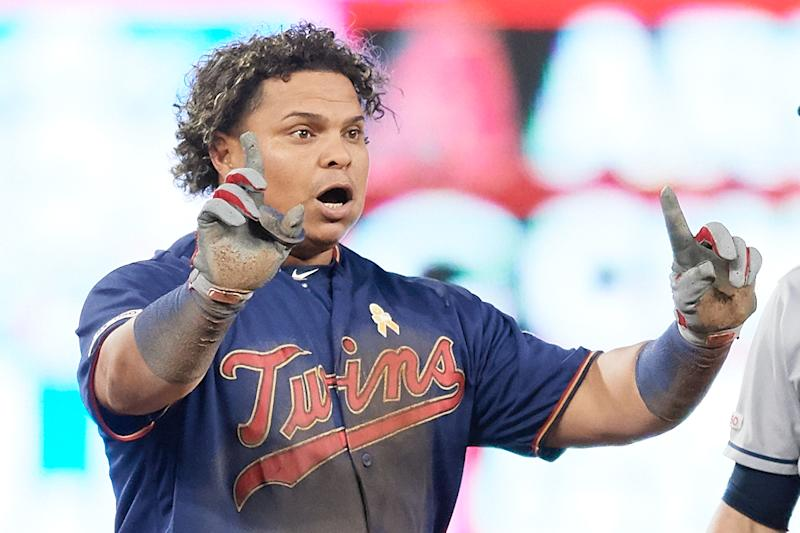 Willians Astudillo of the Twins is one of the internet's favorite baseball players. (Photo by Hannah Foslien/Getty Images)