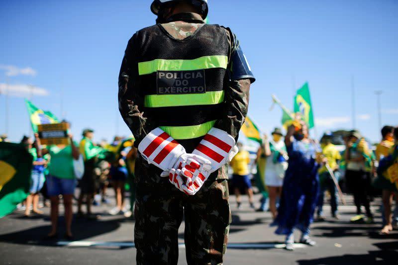 Protest against the Brazilian Supreme Federal Court in Brasilia