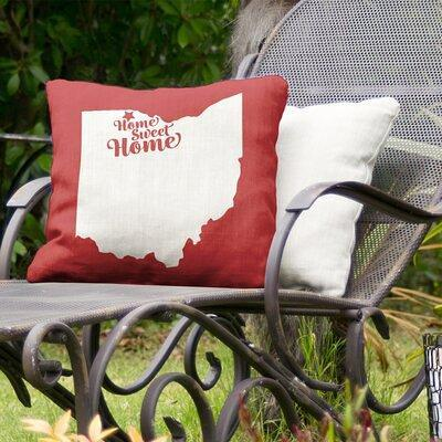 East Urban Home Home Sweet Indoor Outdoor Throw Pillow City Carson Polyester Polyfill Polyester Polyester Blend In Orange Size 16 X 16 Wayfair Yahoo Shopping