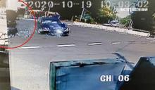 轎車左轉撞休旅車 衝進甕仔雞騎樓