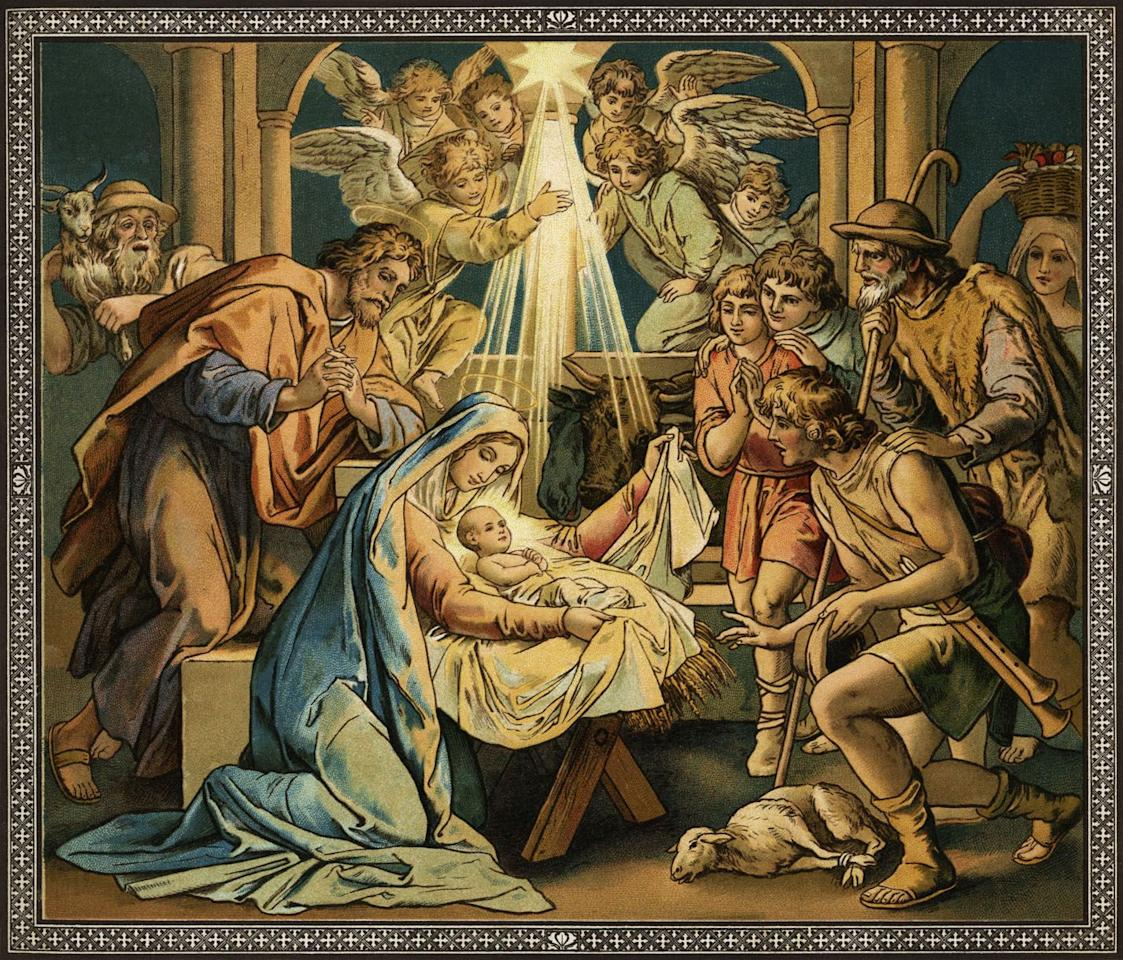 """<p>While Christmas celebrates the birth of Jesus Christ, there is <a href=""""http://www.history.com/topics/christmas/history-of-christmas/videos/bet-you-didnt-know-christmas"""" target=""""_blank"""">no mention of December 25</a> in the Bible. Most historians actually posit that Jesus was born in the spring. And his birthday itself didn't become the official holiday until the third century. Some historian believe the date was actually chosen because it coincided with the pagan festival of Saturnalia, which honored the agricultural god Saturn with celebrating and gift-giving. </p>"""