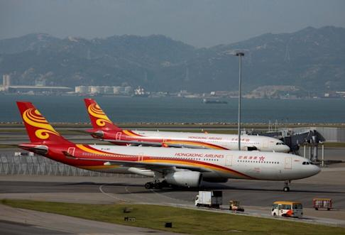 A Hong Kong Airlines A330 airliner, like the ones pictured, was involved in Friday's incident. Photo: Reuters