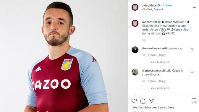Seragam Aston Villa. (Instagram)