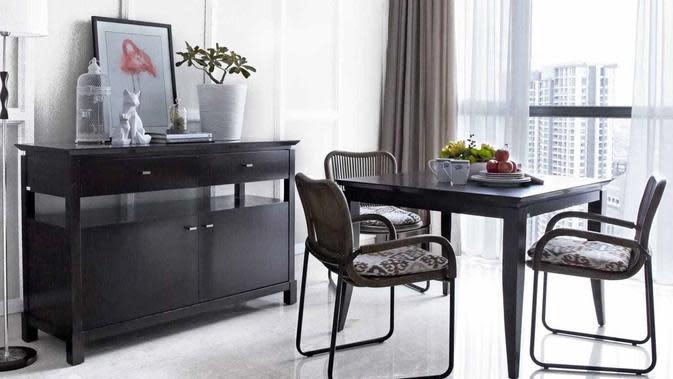 Desain apartemen minimalis yang memanfaatkan warna-warna netral. (dok. Arsitag)
