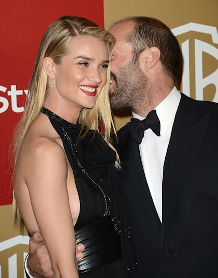 14th Annual Warner Bros. And InStyle Golden Globe Awards After Party - Arrivals: Rosie Huntington-Whiteley and Jason Statham