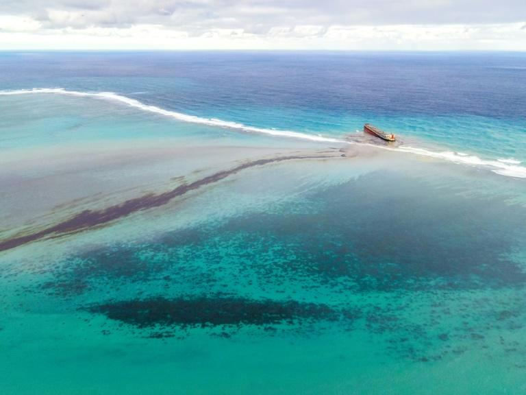 Mauritius races to clean up oil as ship leaking fuel breaks up