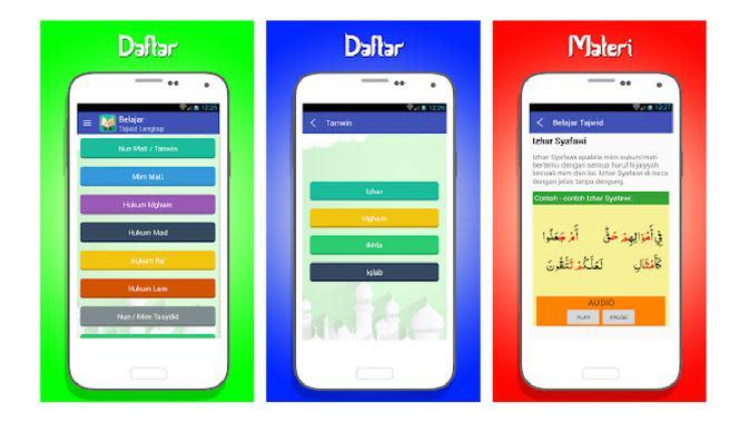 Aplikasi Smartphone untuk Belajar Tajwid