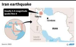 Gempa di Iran tewaskan lima orang, 120 luka