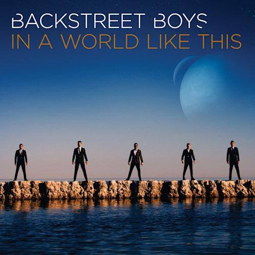 "This CD cover image released by K-BAHN LLC / BMG Rights Management shows ""In a World Like This,"" the latest release by Backstreet Boys. (AP Photo/K-BAHN LLC / BMG Rights Management)"