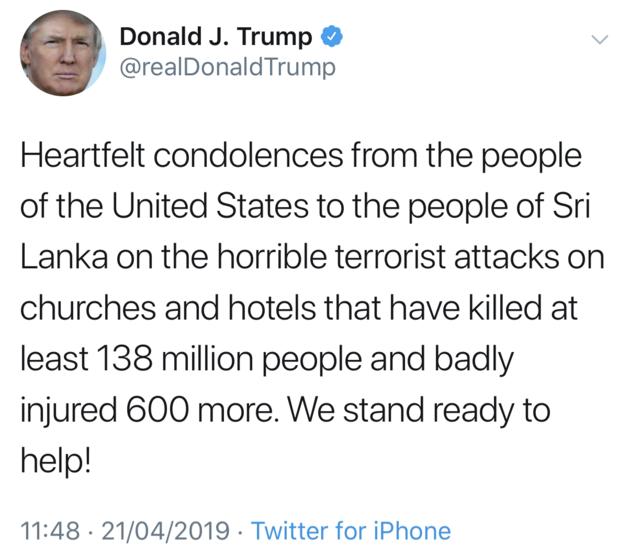 Donald Trump on Sri Lanka