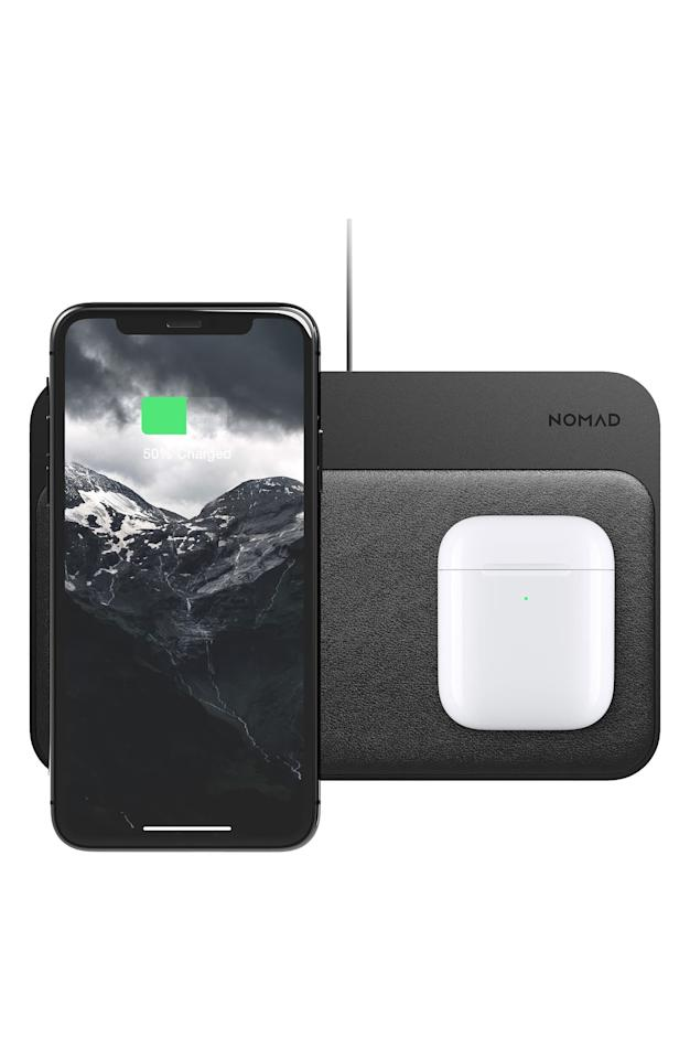 """<p>Get this <a href=""""https://www.popsugar.com/buy/Nomad-Wireless-Charging-Base-Station-536580?p_name=Nomad%20Wireless%20Charging%20Base%20Station&retailer=shop.nordstrom.com&pid=536580&price=100&evar1=casa%3Auk&evar9=45637069&evar98=https%3A%2F%2Fwww.popsugar.com%2Fhome%2Fphoto-gallery%2F45637069%2Fimage%2F47062162%2FNomad-Wireless-Charging-Base-Station&list1=shopping%2Cgadgets%2Ctech%20shopping%2Chome%20shopping&prop13=api&pdata=1"""" rel=""""nofollow"""" data-shoppable-link=""""1"""" target=""""_blank"""" class=""""ga-track"""" data-ga-category=""""Related"""" data-ga-label=""""https://shop.nordstrom.com/s/nomad-wireless-charging-base-station/5350518/full?origin=category-personalizedsort&amp;breadcrumb=Home%2FHome%20%26%20Gifts%2FElectronic%20%26%20Tech%20Accessories&amp;color=black"""" data-ga-action=""""In-Line Links"""">Nomad Wireless Charging Base Station</a> ($100) for your desk.</p>"""