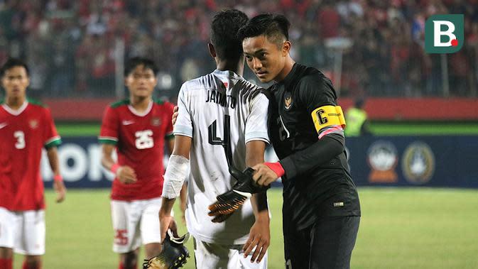 Kiper Timnas Indonesia U-16 di Piala AFF U-16 2018, Ernando Ari Sutaryadi. (Bola.com/Aditya Wany)
