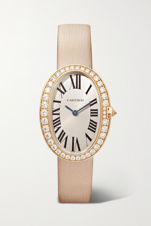 """<p><strong>Cartier</strong></p><p>net-a-porter.com</p><p><strong>$22800.00</strong></p><p><a href=""""https://go.redirectingat.com?id=74968X1596630&url=https%3A%2F%2Fwww.net-a-porter.com%2Fen-us%2Fshop%2Fproduct%2Fcartier%2Fbaignoire-24-5mm-small-18-karat-rose-gold-toile-brossee-and-diamond-watch%2F1296733&sref=https%3A%2F%2Fwww.harpersbazaar.com%2Fwedding%2Fplanning%2Fg34182400%2Fmother-of-the-bride-gift-ideas%2F"""" target=""""_blank"""">Shop Now</a></p>"""
