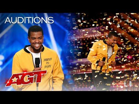 """<p>Brandon made<em> AGT </em>history when he walked onto the stage for his audition. He was the <a href=""""https://www.youtube.com/watch?v=tdjIFkM-ohQ"""" target=""""_blank"""">first-ever spoken word artist</a> to appear on the competition series and, to make things sweeter, also the first to get a golden buzzer (thanks to Howie). Howie told the performer afterwards that he was """"moved"""" and could feel Brandon's """"love"""" coming from the original poetry.</p><p><a href=""""https://www.youtube.com/watch?v=tdjIFkM-ohQ&t=418s"""">See the original post on Youtube</a></p>"""