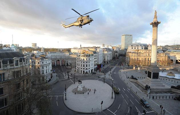 Tom Cruise's movie shoot shuts down London's Trafalgar Square