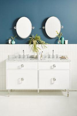 Lacquered Regency Double Bathroom Vanity By Tracey Boyd In Grey Yahoo Shopping