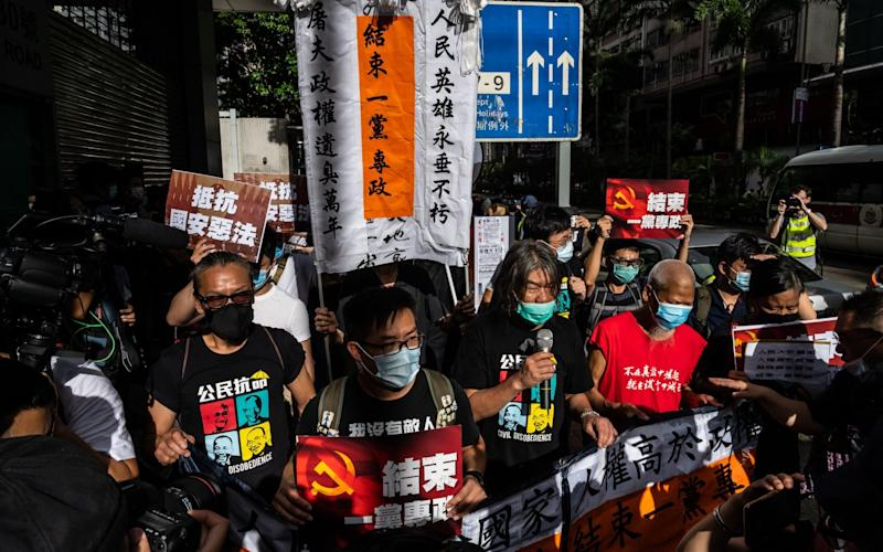 Protesters in Hong Kong say the new law is authoritarian - GETTY IMAGES