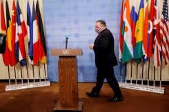 AS menentang dunia mengatakan sanksi PBB terhadap Iran kembali berlaku