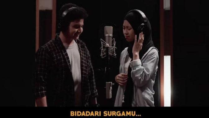 Momen kebersamaan Adiba Khanza dan Syakir Daulay. (Sumber: YouTube/Falcon Music Indonesia)