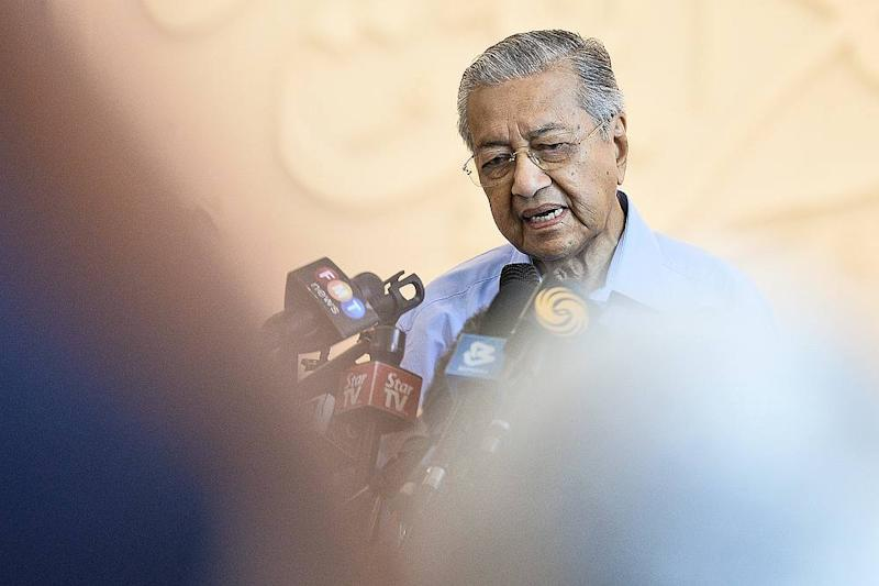 Former Prime Minister Tun Dr Mahathir Mohammad speaks during a press conference in Yayasan Al-Bukhary, Kuala Lumpur March 1, 2020. — Picture by Miera Zulyana