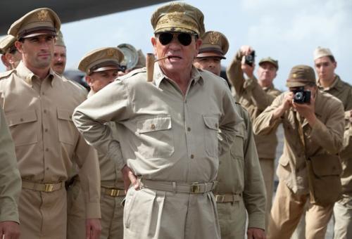 Talking History with Tommy Lee Jones as General Douglas MacArthur in 'Emperor'