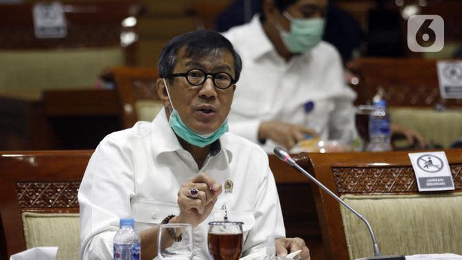 Menkumham: UU MK Jadi Dasar Yuridis Tetapkan Syarat Hakim Konstitusi