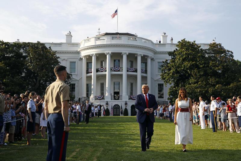 APTOPIX Trump July 4