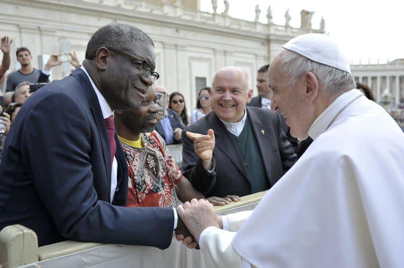 U.N. says life of Congo's Nobel Laureate doctor in danger