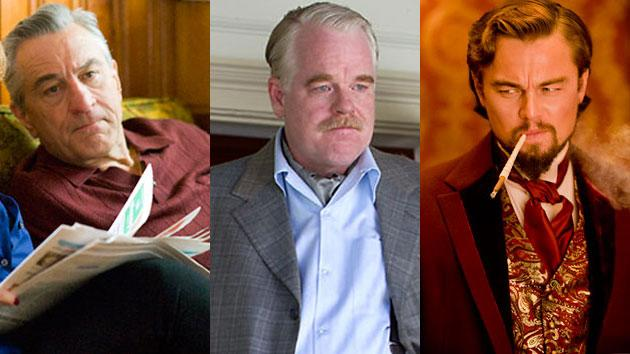 Best Supporting Actor Contenders: Philip Seymour Hoffman, Robert DeNiro and Leonardo DiCaprio take the Lead