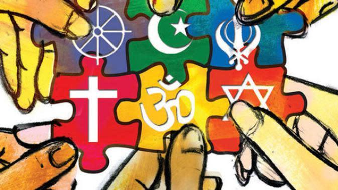 Ilustrasi umat beragama. Foto: via penumbramag.com