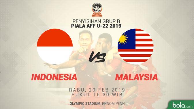 Jadwal Piala AFF U-22 2019, Indonesia vs Malaysia. (Bola.com/Dody Iryawan)