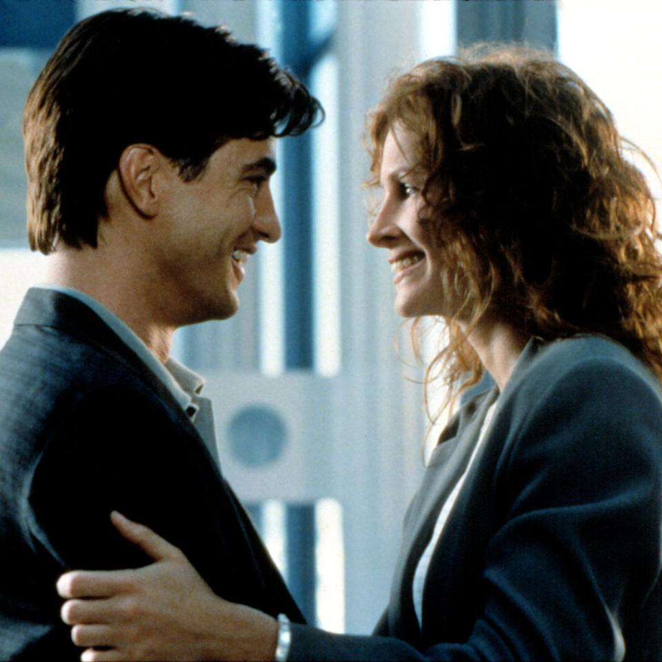 "<p>Julia Roberts plays Julianne, a feisty, big-haired food critic, in love with her longtime best friend, Michael (Dermot Mulroney), a local-news sportswriter engaged to Kimmy (Cameron Diaz), a filthy-rich daddy's girl sweeter than the buttercream on the couple's multi-tier wedding cake. Hell-bent on sabotaging their nuptials, Jules lies, deceives, and gets downright Machiavellian in her schemes, resulting in an amusing and charming rom-com that manages to reinvent the genre's requisite happy ending.</p><p><a class=""body-btn-link"" href=""https://www.amazon.com/gp/video/detail/amzn1.dv.gti.5ea9f79a-edb3-f1b0-b1a8-2c96973fe7c5?autoplay=1&tag=syn-yahoo-20&ascsubtag=%5Bartid%7C10056.g.32435048%5Bsrc%7Cyahoo-us"" target=""_blank"">WATCH NOW</a></p>"