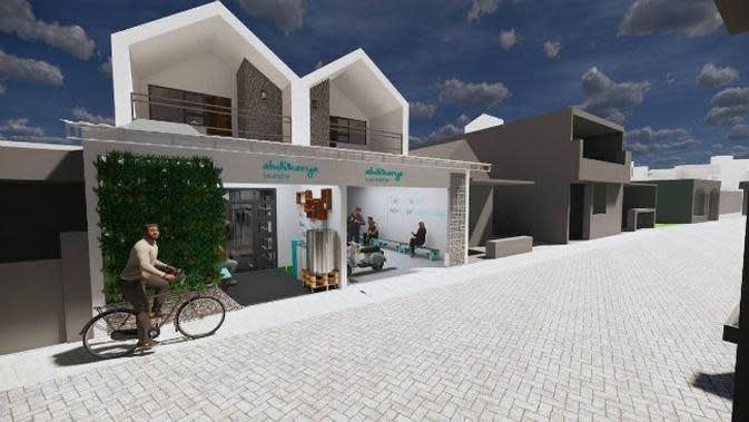 Tim Abdi Karya Institut Teknologi Sepuluh Nopember (ITS) merancang instalasi pengolahan air limbah (IPAL) untuk laundry. (Foto: Dok ITS)