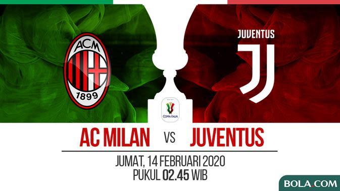 Live Streaming AC Milan vs Juventus di Semifinal Coppa Italia
