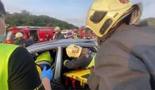 國道1號楊梅段3車連環追撞 1死2傷