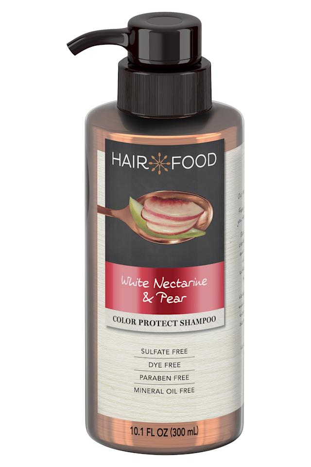"""<p><strong>Hair Food</strong></p><p></p><p><strong>$7.94</strong></p><p><a href=""""https://go.redirectingat.com?id=74968X1596630&url=https%3A%2F%2Fwww.walmart.com%2Fip%2FHair-Food-Color-Protect-White-Nectarine-and-Pear-Shampoo-10-1-oz%2F786437657%3Fwmlspartner%3Dwlpa%26selectedSellerId%3D0&sref=https%3A%2F%2Fwww.goodhousekeeping.com%2Fbeauty%2Fhair%2Fg3878%2Fbest-shampoo-for-colored-hair%2F"""" target=""""_blank"""">Shop Now</a></p><p>Hair Food's sulfate-free shampoo for colored hair plus its <a href=""""https://go.redirectingat.com?id=74968X1596630&url=https%3A%2F%2Fwww.walmart.com%2Fip%2FHair-Food-Color-Protect-White-Nectarine-and-Pear-Conditioner-10-1-oz%2F155610337&sref=https%3A%2F%2Fwww.goodhousekeeping.com%2Fbeauty%2Fhair%2Fg3878%2Fbest-shampoo-for-colored-hair%2F"""" target=""""_blank"""">matching conditioner</a> proved the <strong>best at conditioning hair in the GH Beauty Lab's test</strong>, making it ideal for <a href=""""https://www.goodhousekeeping.com/beauty-products/g26241901/best-shampoo-for-dry-hair/"""" target=""""_blank"""">dry</a>, <a href=""""https://www.goodhousekeeping.com/beauty/hair/tips/a15884/fix-damaged-hair/"""" target=""""_blank"""">damaged</a>, thick, or <a href=""""https://www.goodhousekeeping.com/beauty/hair/a32733411/curl-hair-types/"""" target=""""_blank"""">textured hair</a>. It also earned a perfect score for being non-irritating. """"Dyeing my hair left it very dry, and I loved how moisturized it felt after just one use,"""" a tester reported.<br></p>"""