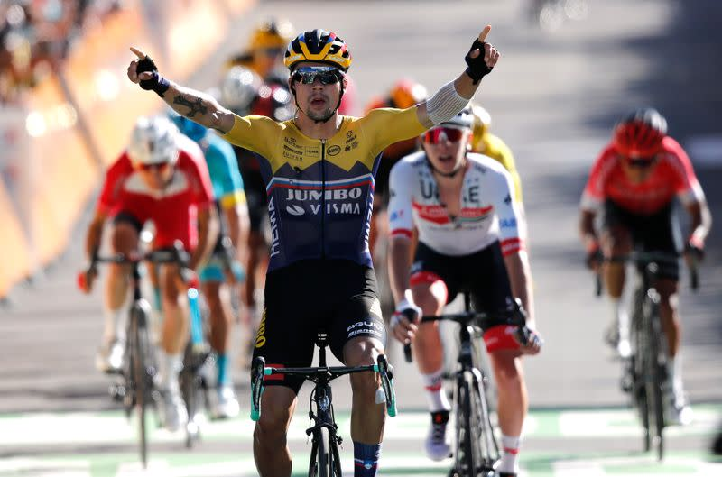 Roglic sends warning to rivals with stage four victory, Alaphilippe stays in yellow